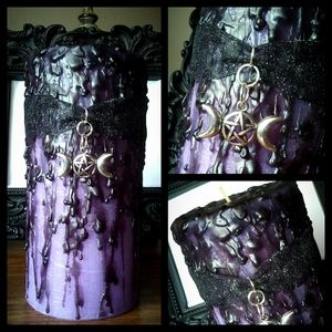 🌙💜🖤Hand Poured Witch's Spell Candle